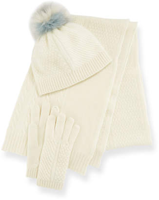 Portolano Cashmere Hat, Scarf & Gloves Set