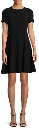 Theory Modern Seamed Fit Flare Dress
