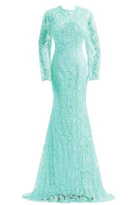 DINGZAN Retro Lace Swing Cocktail Dresses Mother of The Bride Prom Gowns XXL Navy