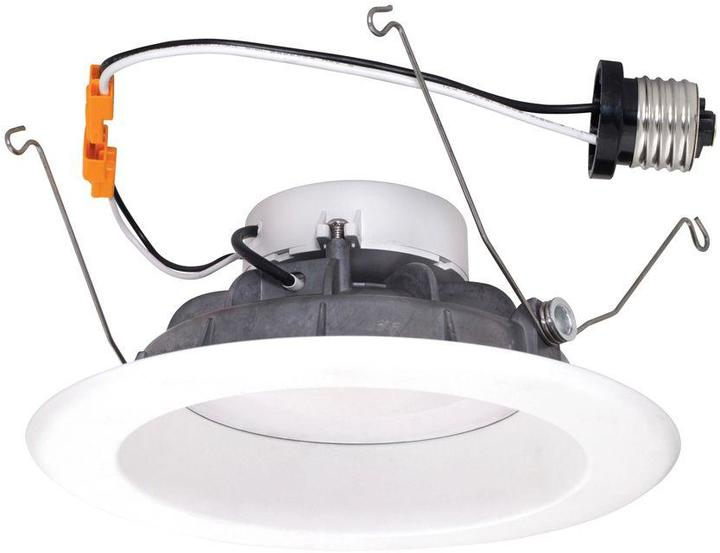 EnviroLite 6 in. White Recessed LED High Ceiling Light with Magnetic Trim Ring, 4000K, 93 CRI