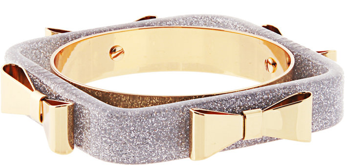 Ted Baker Exclusive To ASOS Gold And Silver 4 Bow Acrylic Bangle