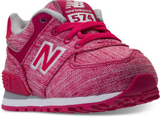 New Balance Toddler Girls' 574 Tux Casual Sneakers from Finish Line $44.99 thestylecure.com