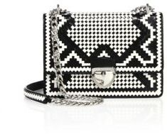 Prada Madras Woven Leather Chain Bag $2,850 thestylecure.com