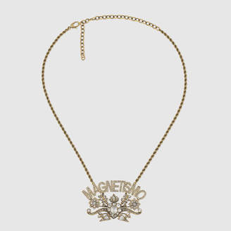 Gucci Magnetismo crystal pendant necklace