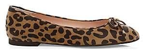 Stuart Weitzman Women's Gabby Leopard Leather Flats