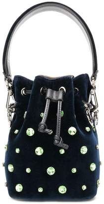 Fendi crystal embellished bucket bag
