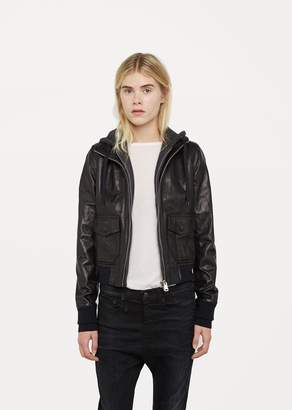 R 13 Hooded Flight Jacket