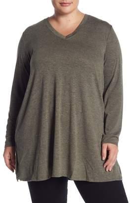 Joe Fresh Marled V-Neck Long Sleeve Tunic