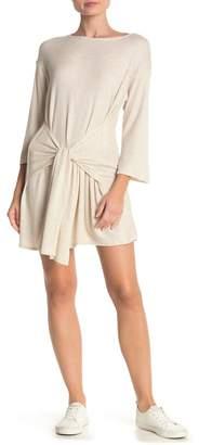Elan International Thermal Tie Waist Tunic Dress