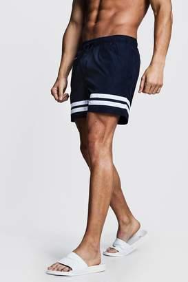 boohoo Contrast Stripe Swim Shorts