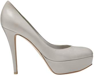 Gianvito Rossi Grey Leather Heels