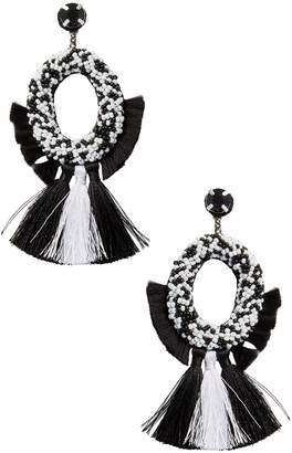 Deepa Gurnani Fringe Tassel Statement Earrings