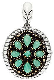 American WestAmerican West As Is Treasures Kingman Turquoise Brass Sterl. Enhancer