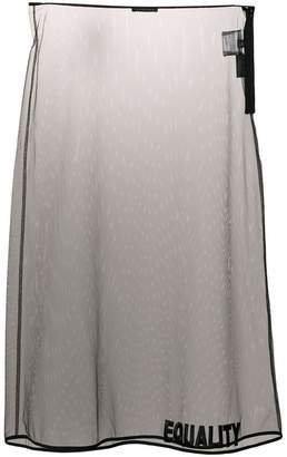 Versace Equality embroidered sheer skirt