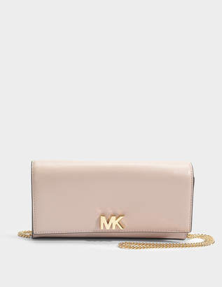 MICHAEL Michael Kors Mott Large East-West Clutch in Soft Pink King Leather