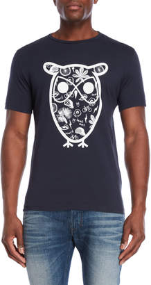 Knowledge Cotton Apparel Big Owl Graphic Tee