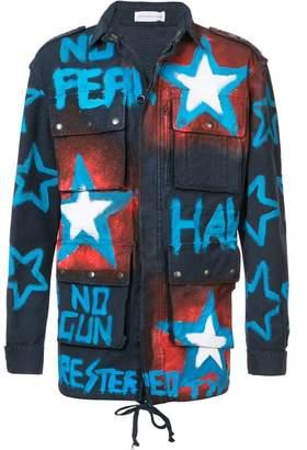 Faith Connexion sprayed cargo jacket