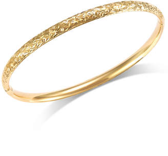 Macy's Crystal-Cut Hinge Bangle Bracelet in 14k Gold