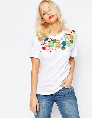 House of Holland Embellished Tee $136 thestylecure.com