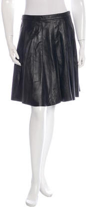Belstaff Leather Pleated Skirt $220 thestylecure.com
