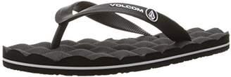 Volcom Boys' Recliner Rubber Big Youth FLIP Flop Sandal