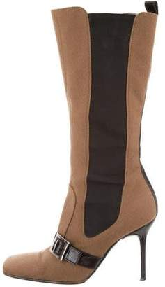 Dolce & Gabbana Buckle-Accented Mid-Calf Boots