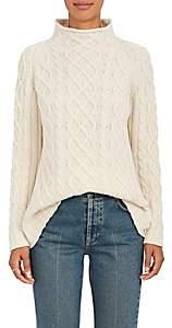 Barneys New York Women's Cashmere Fisherman Sweater - Beige, Tan