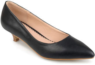 Journee Collection Bohme Womens Pumps Slip-on Pointed Toe Kitten Heel