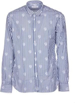 Aglini Striped Skull Shirt