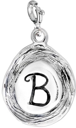 Hagit Sterling Carved Initial Charm