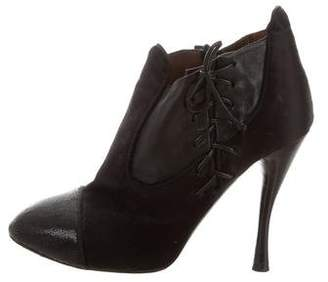 Tabitha Simmons Satin Cap-Toe Booties
