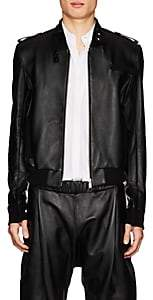 Helmut Lang Seen By Shayne Oliver SEEN BY SHAYNE OLIVER MEN'S LAMBSKIN BOMBER JACKET - BLACK SIZE XL
