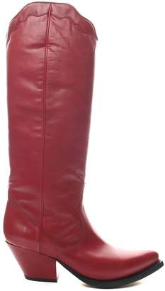 Buttero Elise Leather Western Boots