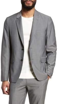 Theory Gansevoort Trim Fit Check Wool Sport Coat
