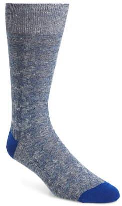 Pantherella Houndstooth Linen Blend Socks