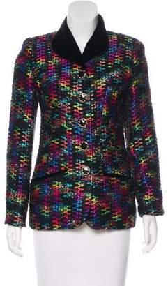 Ungaro Paris Tweed Button-Up Jacket