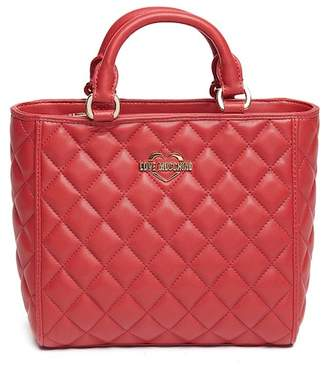 Love Moschino Quilted PU Leather Handle Bag