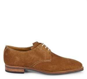 3001 Suede Stacked Heel Oxfords