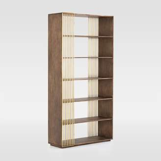 west elm Aged Wood + Brass Bookshelf