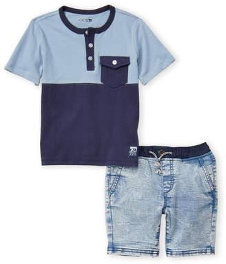 8bfee7bc7 Joe's Jeans Boys 4-7) Two-Piece Henley & Denim Shorts Set