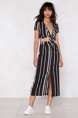 Nasty Gal Midnight Train Top and Skirt Set