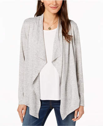Bar III Draped Open-Front Sweater, Created for Macy's