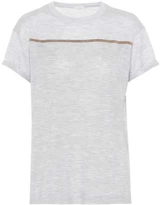 Brunello Cucinelli Cashmere and silk T-shirt