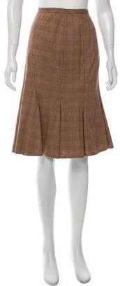 Dolce & Gabbana Flared Plaid Skirt