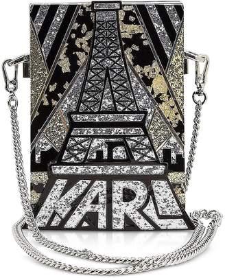 Karl Lagerfeld Art Deco Minaudiere Clutch