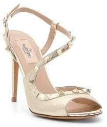 Valentino Metallic Strappy Sandals