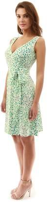 PattyBoutik Women V Neck Sleeveless Print Dress