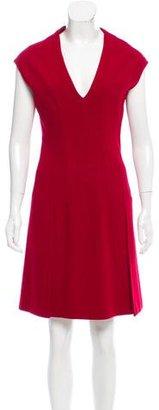 Prada Wool V-Neck Dress