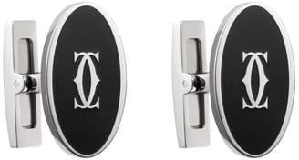 Cartier Large Double C Logo Décor Cufflinks