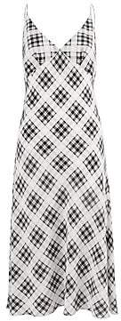 Marc Jacobs Women's Redux Grunge Bias-Cut Plaid Washed Silk Slip Dress